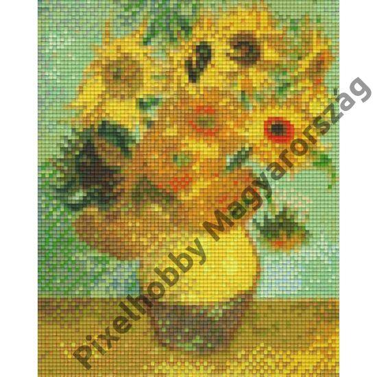 Vincent van Gogh - Napraforgók vázában 1889 (20,3x25,4cm)