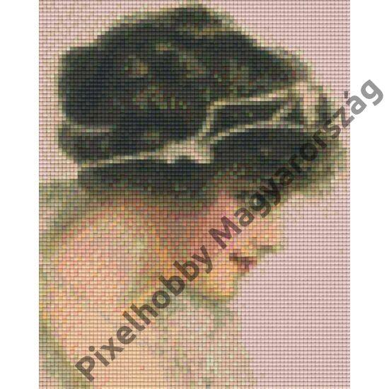 Nő diadémmal (20,3x25,4cm)