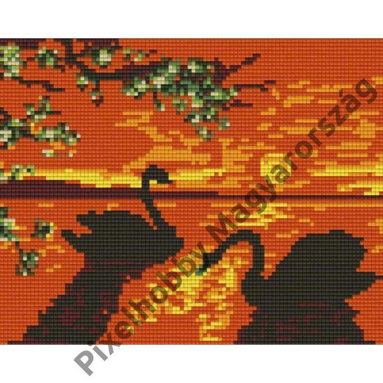 Napkelte hattyúkkal (25,4x20,3cm)