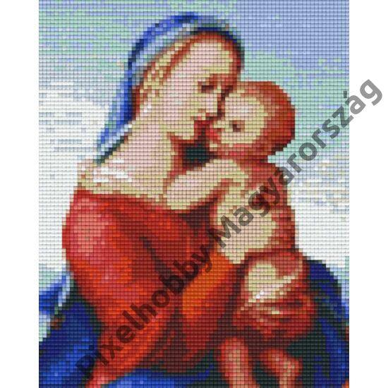 Mária gyermek Jézussal (20,3x25,4cm)
