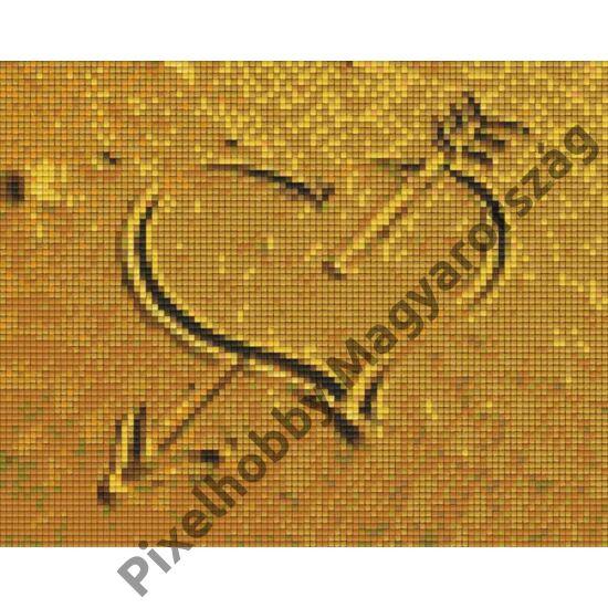 Homokba rajzolt szív (25,4x20,3cm)